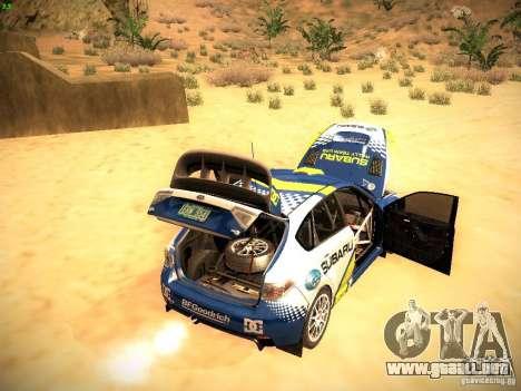 Subaru impreza Tarmac Rally para la vista superior GTA San Andreas