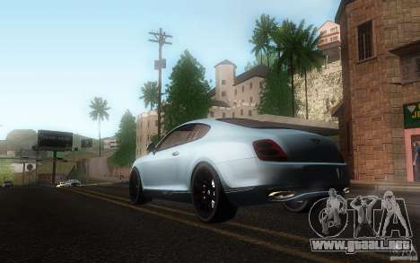 Bentley Continental SS para visión interna GTA San Andreas