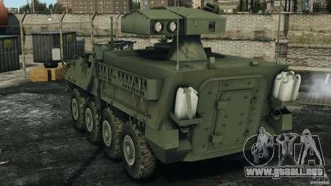 Stryker M1134 ATGM v1.0 para GTA 4 Vista posterior izquierda