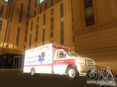 Ford E-350 Ambulance 2 para GTA San Andreas