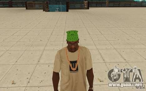 Pañuelo verde maryshuana para GTA San Andreas