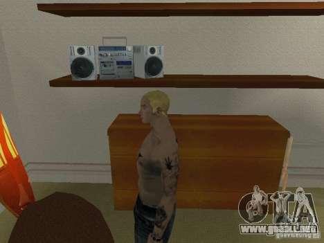 Piel Eminema para GTA San Andreas quinta pantalla