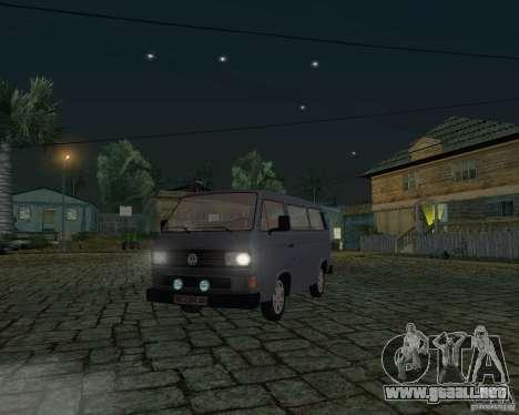 Volkswagen Transporter T3 para visión interna GTA San Andreas