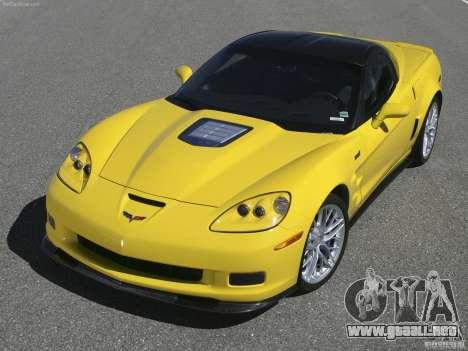 Pantallas de carga Chevrolet Corvette para GTA San Andreas quinta pantalla