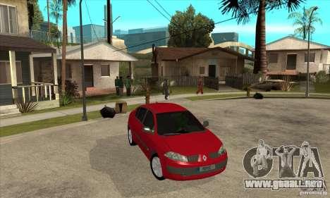 Renault Megane II Sedan para GTA San Andreas vista hacia atrás