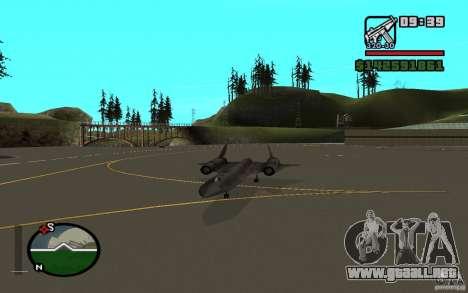 SR-71 Blackbird para la visión correcta GTA San Andreas
