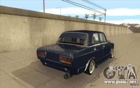 Lada VAZ-2107 calle Drift Tuned para vista lateral GTA San Andreas