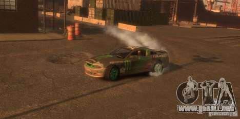 Ford Mustang Monster Energy 2012 para GTA 4 vista hacia atrás