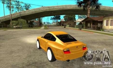 GTA IV Comet para GTA San Andreas vista posterior izquierda