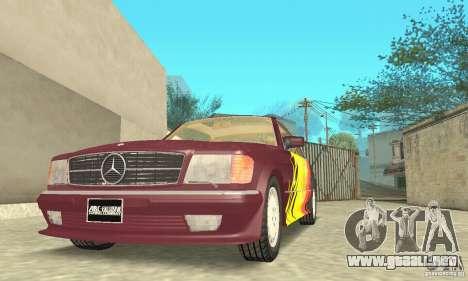 Mercedes-Benz W126 560SEC para el motor de GTA San Andreas