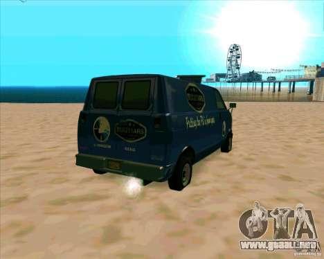 BUGSTARS Burrito from GTA IV para GTA San Andreas vista posterior izquierda