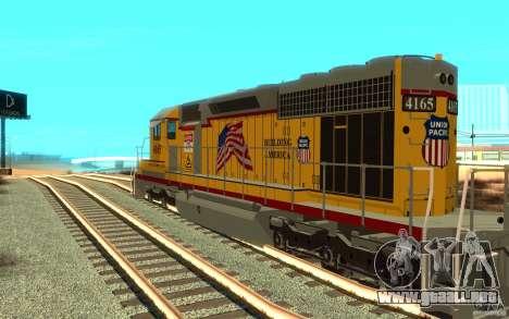 SD 40 Union Pacific Building America para la visión correcta GTA San Andreas