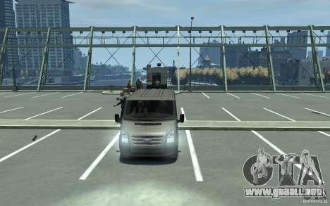 Ford Transit 2011 para GTA 4 vista hacia atrás