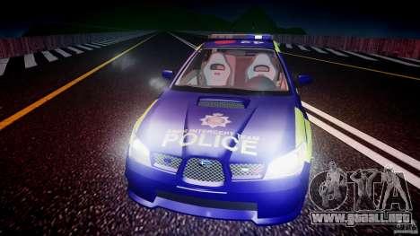 Subaru Impreza WRX Police [ELS] para GTA motor 4