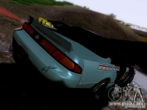 Nissan Silvia S14 Matt Powers v4 2012 para GTA San Andreas vista posterior izquierda