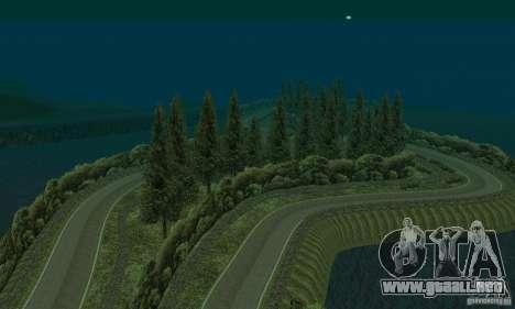 La ruta del rally para GTA San Andreas sucesivamente de pantalla