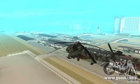 Black Ops Hind para GTA San Andreas vista posterior izquierda