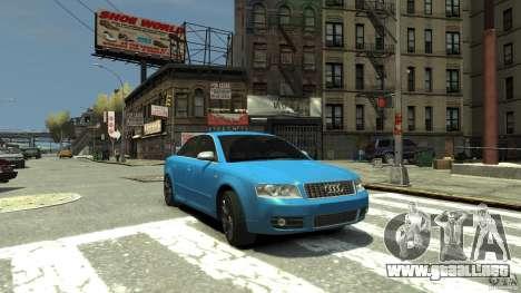 Audi S4 2000 para GTA 4 vista lateral