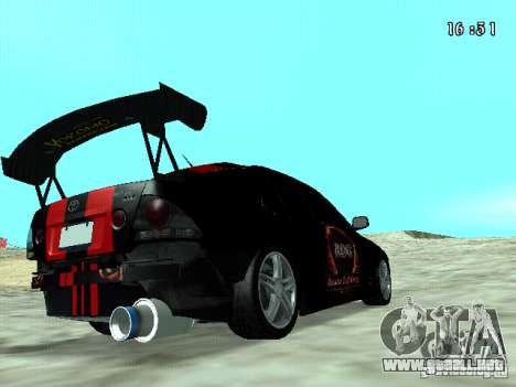 Toyota Altezza NKS Drift para GTA San Andreas vista posterior izquierda