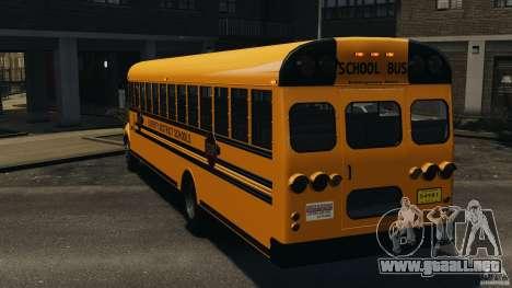 School Bus v1.5 para GTA 4 Vista posterior izquierda