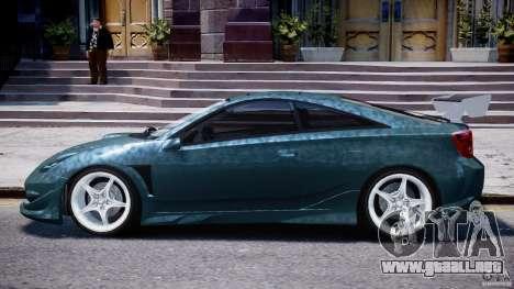 Toyota Celica Tuned 2001 v1.0 para GTA 4 Vista posterior izquierda
