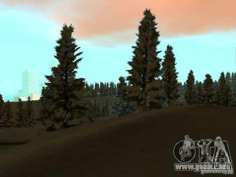 Camino de invierno para GTA San Andreas séptima pantalla