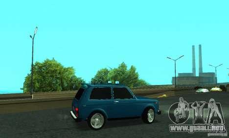 FBI NIVA VAZ 21213 para GTA San Andreas left