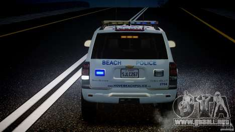 Chevrolet Trailblazer Police V1.5PD [ELS] para GTA 4 interior