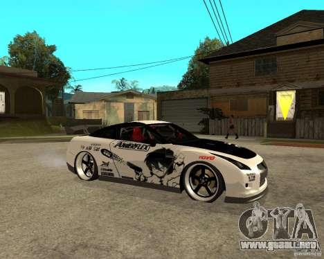 Nissan Skyline R35 para la visión correcta GTA San Andreas