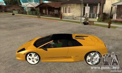 Lamborghini Murcielago Roadster Final para GTA San Andreas left