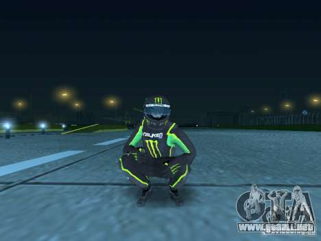 Falken Monster Energy PED para GTA San Andreas