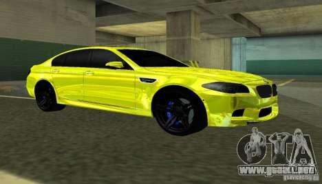 BMW M5 F10 Gold para GTA San Andreas left