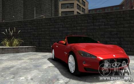 Maserati GranCabrio para GTA 4 vista hacia atrás