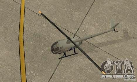 Robinson R44 Raven II NC 1.0 piel 4 para GTA San Andreas vista hacia atrás