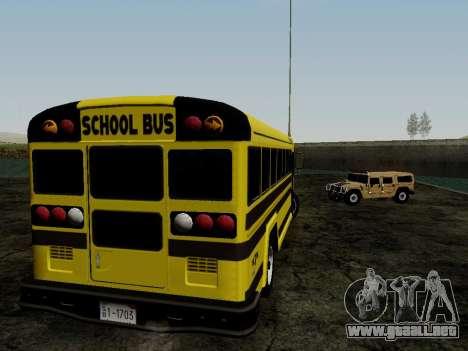 International Harvester B-Series 1959 School Bus para la visión correcta GTA San Andreas