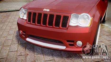 Jeep Grand Cherokee para GTA 4 vista lateral