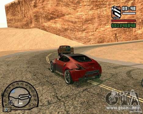 Nissan 370Z Undercover para GTA San Andreas vista hacia atrás