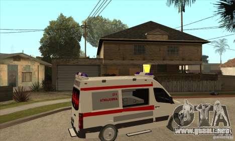 Volkswagen Crafter Ambulance para la visión correcta GTA San Andreas