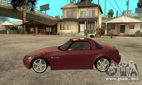 Honda S2000 para GTA San Andreas left