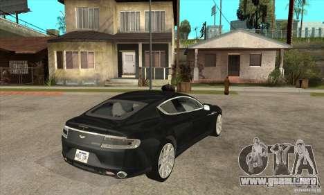 Aston Martin Rapide 2010 para la visión correcta GTA San Andreas
