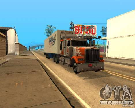 Western Star 4900EX v 0.1 para GTA San Andreas left