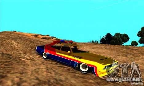 Ford Falcon 351 GT Interceptor Mad Max para GTA San Andreas vista posterior izquierda