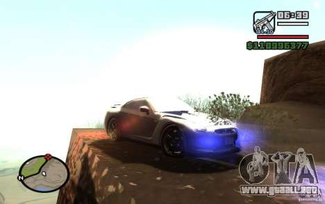 ENBSeries By Gasilovo para GTA San Andreas sucesivamente de pantalla
