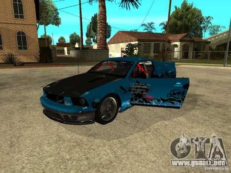 Ford Mustang Drag King para la visión correcta GTA San Andreas