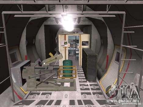 AC-130 Spooky II para GTA San Andreas vista hacia atrás