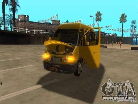 Taxi gacela 2705 para la visión correcta GTA San Andreas