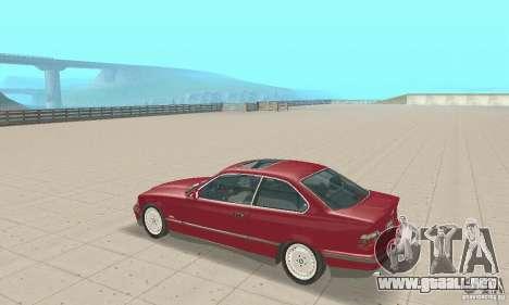 BMW 325i Coupe para la visión correcta GTA San Andreas