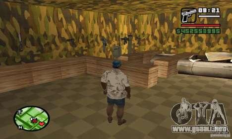 Tienda de armas en Grove para GTA San Andreas sucesivamente de pantalla