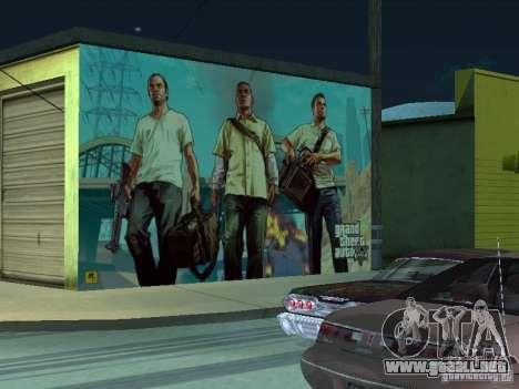 Cartel de GTA V para GTA San Andreas quinta pantalla