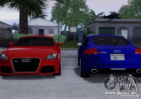 Audi TT-RS Coupe para GTA San Andreas interior